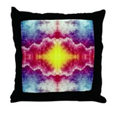 Groovy Colors Throw Pillow