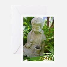 Buddha Peace in the Garden Greeting Card