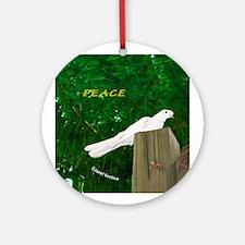Annies Dove PEACE! Ornament (Round)