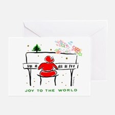 JOY TO WORLD PianoSanta Greeting Cards(Pk of 20)
