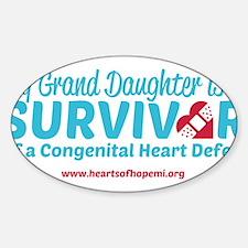 CHD Survivor - Grand Daughter Decal