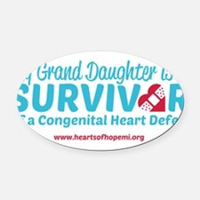 CHD Survivor - Grand Daughter Oval Car Magnet