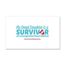 CHD Survivor - Grand Daughter Car Magnet 20 x 12