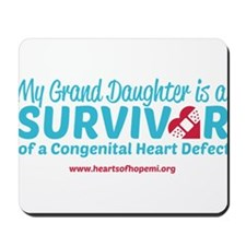 CHD Survivor - Grand Daughter Mousepad