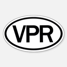 Vaper Euro Oval Decal Decal