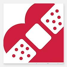 "CHD Special Heart Square Car Magnet 3"" x 3"""