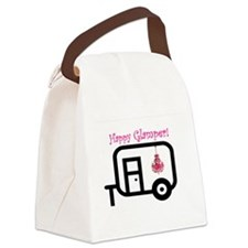 Happy Glamper! Canvas Lunch Bag