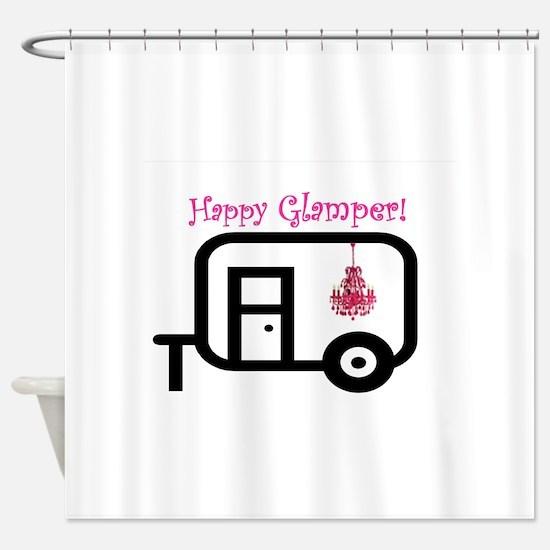 Happy Glamper! Shower Curtain