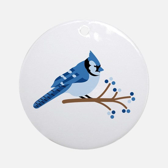 Christmas Blue Jays Ornament (Round)