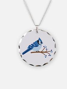 Christmas Blue Jays Necklace
