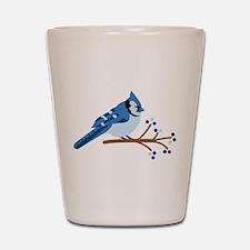 Christmas Blue Jays Shot Glass