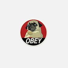 Obey Pug Mini Button