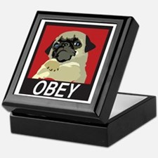 Obey Pug Keepsake Box