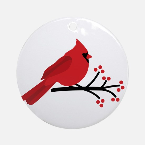 Christmas Cardinals Ornament (Round)