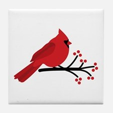 Christmas Cardinals Tile Coaster