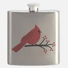 Christmas Cardinals Flask