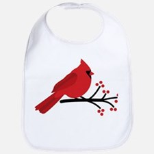 Christmas Cardinals Bib