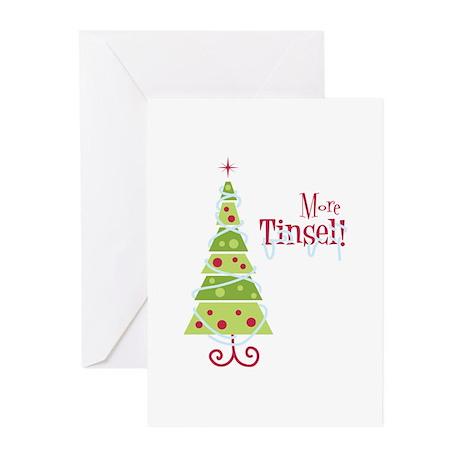 More Tinsel! Greeting Cards