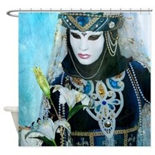 Carnival of Venice: Blue dreams Shower Curtain