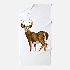 White Tail Deer Buck Beach Towel