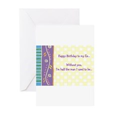 Birthday Card for Ex-Wife! Greeting Cards
