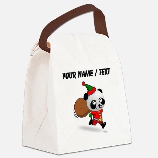 Custom Panda Santa Canvas Lunch Bag