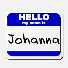 hello my name is johanna  Mousepad