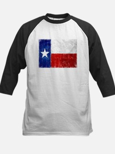 Texas Flag Distressed Kids Baseball Jersey