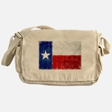 Texas Flag Distressed Messenger Bag