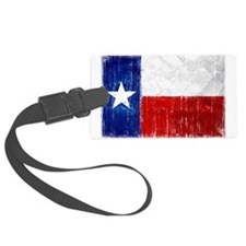 Texas Flag Distressed Luggage Tag