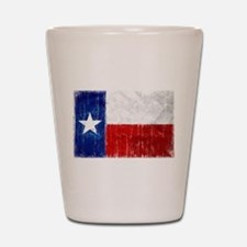Texas Flag Distressed Shot Glass