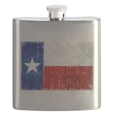 Texas Flag Distressed Flask