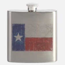 Texas Flag Distressed Flask