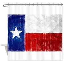 Texas Flag Distressed Shower Curtain
