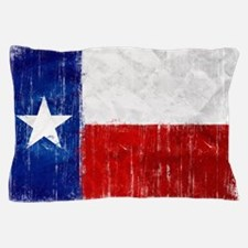 Texas Flag Distressed Pillow Case