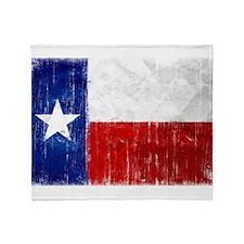 Texas Flag Distressed Throw Blanket