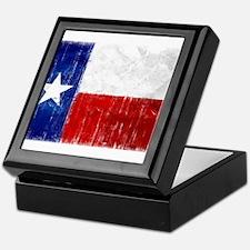 Texas Flag Distressed Keepsake Box