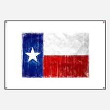 Texas Flag Distressed Banner
