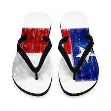 Texas Flag Distressed Flip Flops