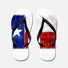 Texas Flag Distressed Flip Flops