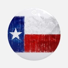 Texas Flag Distressed Ornament (Round)