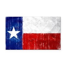 Texas Flag Distressed Rectangle Car Magnet