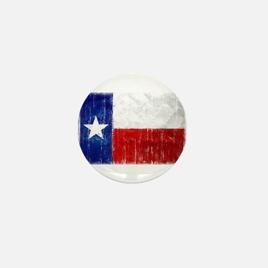 Texas Flag Distressed Mini Button