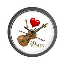 I Love My VIOLIN Wall Clock