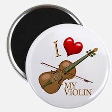 I Love My VIOLIN Magnet