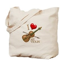 I Love My VIOLIN Tote Bag