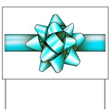 Light blue Bow! Yard Sign