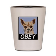 Obey Chihuahua Shot Glass
