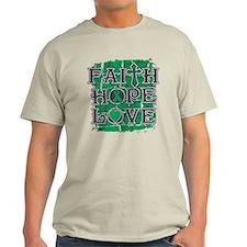 Liver Cancer Faith Hope Love T-Shirt