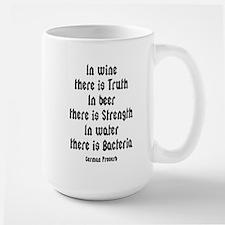 German Proverb IV Large Mug